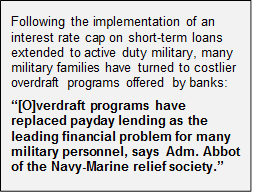 Military overdraft fee issue quote