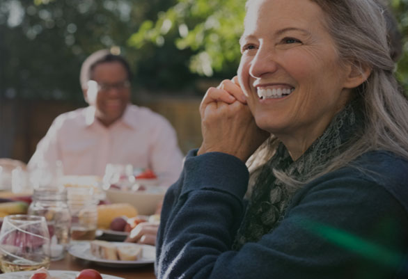 Woman smiles knowing Advance America is transparent and safe