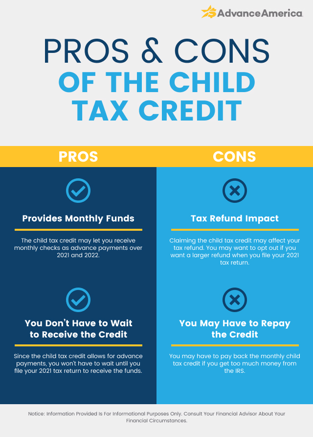 Pros and cons of the child tax credit