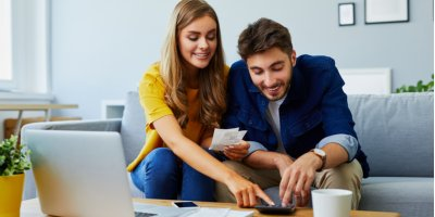 Couple calculated debt-to-income ratio at home